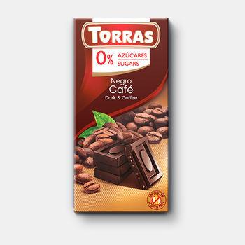 Ciocolata neagra cu cafea Torras f/a zahar f/a gluten Torras 75g