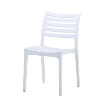 купить Стул из пластика с горизонтальными решетками на спинке и сиденье, белый в Кишинёве