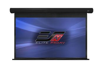 "Elite Screens 100""(16:9) 222x125cm Saker Electric Projector Screen Premium, TopDrop 60cm, Black, MaxWhite™ Fibreglass, Extra top black masking border for high ceiling installations, Flush hidden wall mounts"