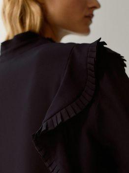 Блуза Massimo Dutti Чёрный 5173/668/800
