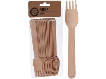 Вилка деревянная 20шт 16cm