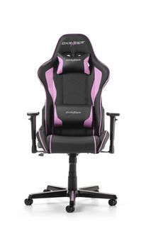 Gaming Chairs DXRacer - Formula GC-F08-NP-H1, Black/Black/Pink - PU leather, Gamer weight up to 100kg / growth 145-180cm, Foam Density 52kg/m3, 5-star Aluminum IC Base, Gas Lift 4 Class, Recline 90*-135*, Armrests: 3D, Pillow-2, Caster-2*PU, W-23kg