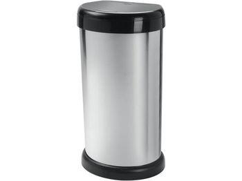 """Ведро для мусора Tontarelli Moda 42l, H68cm, """"металик"""""""