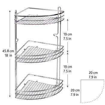 купить Полка в ванную комнату трёхъярусная угловая  699003 в Кишинёве