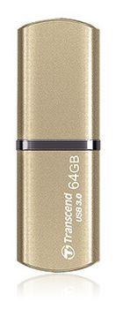 64GB USB3.0 Transcend JetFlash 820 Gold, (Read 90 MByte/s, Write 45 MByte/s), High-quality durable metallic texture and aluminum body, Lightweight and compact, Lanyard / keyring loop