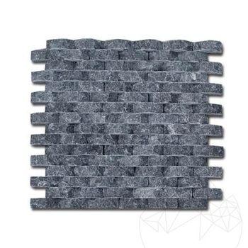 cumpără Mozaic Marmura Black Oval Scapitata 1.8 x 5 cm în Chișinău