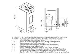 купить Печь пеллетная с водяным контуром - TOSCA 27 кВт в Кишинёве