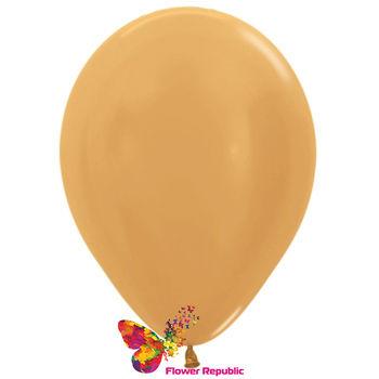 cumpără Balon de latex,  aur nacru - 30 cm în Chișinău
