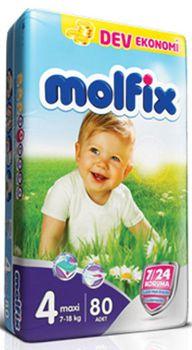 Molfix  подгузники Giga 4 (7-18 кг) (80шт.)