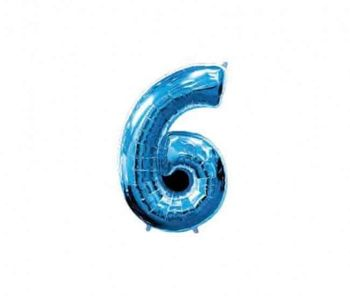 Цифра 6 Синий 40 / 102 см