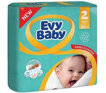 cumpără Evy Baby Scutece Mini 2, 3-6 kg, 80 buc. în Chișinău