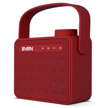 купить SVEN PS-72BL 6W, Red Bluetooth Portable Speaker в Кишинёве