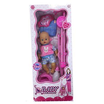 купить Essa Toys Кукла Baby с коляской в Кишинёве
