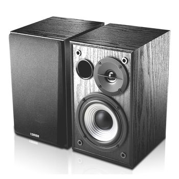 Edifier R980T(Studio) Black, 2x12W RMS, wooden