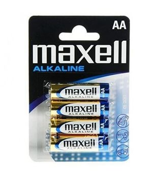 MAXELL Alcaline Battery LR06/AA, 4pcs, Blister pack