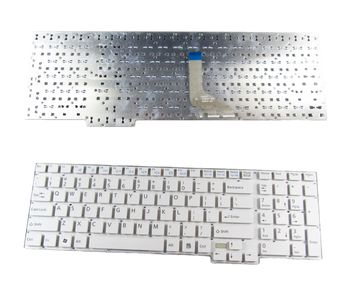 "Keyboard Fujitsu Lifebook AH532 A532 N532 NH532 H562 w/o frame ""ENTER""-small ENG. White"