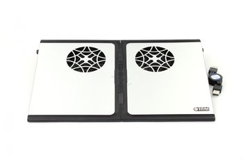 "Titan TTC-G9TZ Notebook Cooling Pad up to 15"", 2 fans -80x80x10mm, 1500rpm, <20dBA, 2"