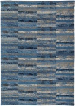 Ковёр ручной работы LOUIS DE POORTERE Mosaiq Blue Jeans 8401
