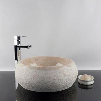 купить Раковина для ванной Мрамор Emperador RS-24, 41 x 33,5 x 15 см в Кишинёве