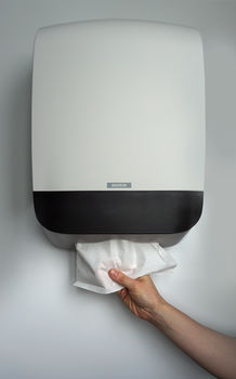 Hand Towel M White - Диспенсер для складных бумажных полотенец
