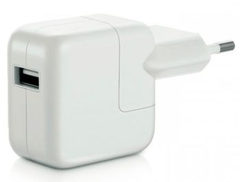 Apple USB Power Adapter 12W, Model A1401, MD836ZM/A (adaptor de alimentare USB Apple pentru iPad (inclusiv iPad cu ecran Retina), iPhone, iPod/сетевое зарядное устройство Apple USB для iPad (iPad Retina), iPhone, iPod)