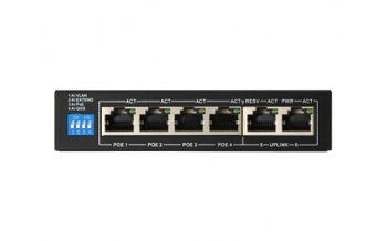 купить POE коммутатор FoxGate S5904P-FE2-AI (60W) 4CH +2 /POE Switch в Кишинёве