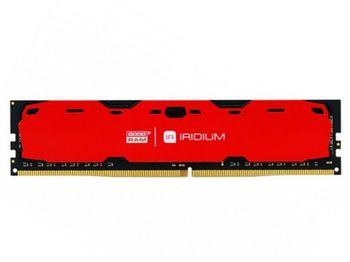 8GB DDR4-2400  GOODRAM Iridium, PC19200, CL15, Latency 15-15-15, 1024x8, 1.2V,  Aluminum RED heatsink