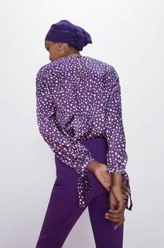 Блуза ZARA Фиолетовый в горошек 1165/051/611