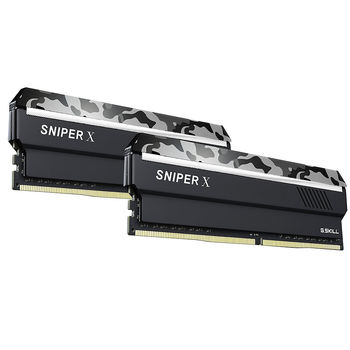 32GB DDR4 Dual-Channel Kit G.SKILL SnipX F4-3200C16D-32GSXFB 32GB (2x16GB) DDR4 PC4-25600 3200MHz CL16, Retail (memorie/память)