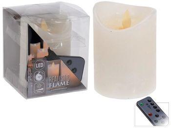 Свеча LED 10X7.5сm мерцающая, таймер и диммера, дист.упр