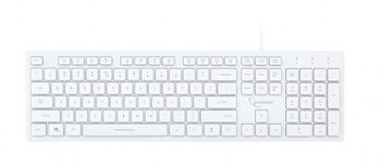 Gembird KB-UML3-01-W-RU Multimedia keyboard, 3-color backlight, 12 practical multimedia hotkeys, RU layout, USB, White