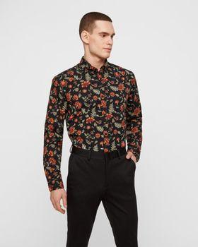 Рубашка JACK&JONES Черный с принтом