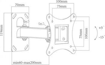 Кронштейн для ТВ Charmount CT-LCD-T108S