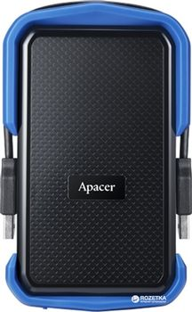 "купить 2.0TB (USB3.1) 2.5"" Apacer AC631 Military-Grade Shockproof Hard Drive, Black-Blue (AP2TBAC631U-1) в Кишинёве"