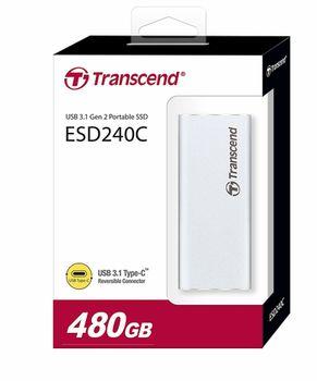 "480GB (USB3.1/Type-C) Transcend Portable SSD ""ESD240C"", Silver"