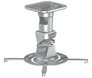 Brackton PM-SPIDER-PLUS-S Suspension Bracket for Projector, Ceiling to Projector 225mm, tilt: +/- 180°, swivel:180°, rotade: 360°, max 15kg, Silver