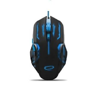 Esperanza APACHE MX403, Optical Mouse for professional game players, 6D, 800/1200/1600/2400 DPI, illuminated, braided cable 1.5m, USB, Blue