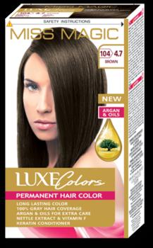 Краска для волос,SOLVEX Miss Magic Luxe Colors, 108 мл., 104 (4.7) - Шоколад