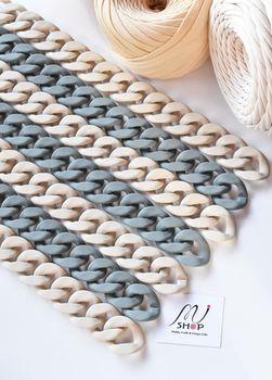 Lanț acrilic plat, 35 cm / natural mat
