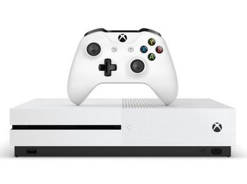 Game Console  Microsoft Xbox One S 1TB White, 1 x Gamepad (Xbox One Controller)