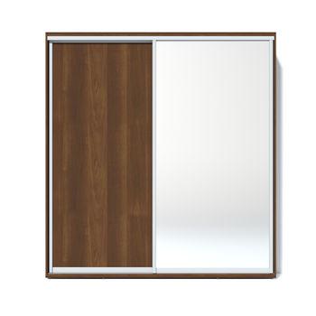 Шкаф купе 2000 1 зеркало, Орех тёмный