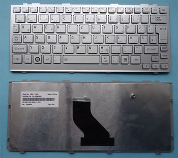 Keyboard Toshiba Satellite NB200 NB205 NB300 NB305 NB500 NB505 w/frame ENG. Silver