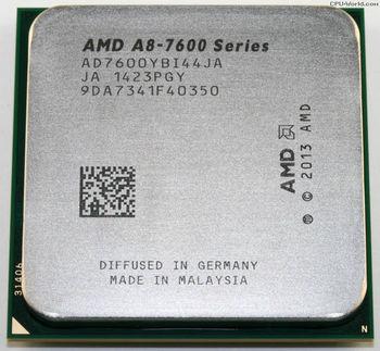 AMD A-Series X4 A8-7600 Socket FM2+, 3.1-3.8GHz, 4MB L2, Intergrated Radeon R7 series, 65W 28nm, tray