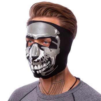 Маска лицевая ветрозащитная MS Chrome Skull (неопрен, черный) (3836)