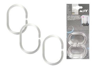 Кольца для шторки MSV 12шт прозрач, пластик, блистер