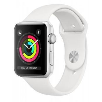 купить Apple Watch Series 3, 42mm, Silver Aluminium Case, White Sport Band, MTF22FS/A в Кишинёве