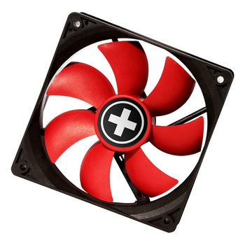Ventilator Case/CPU FAN XILENCE XPF120.R Black/Red, 120x120x25 mm, 1300rpm, 21 dB, 44.7 CFM, hydro bearing, Big 4Pin and 3Pin Molex (Ventilator pentru carcasa)