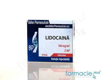 купить Lidocaina sol. inj. 100 mg/ml 2 ml N10 (Balkan) в Кишинёве