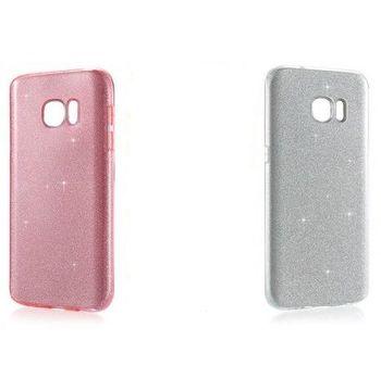 Чехол для Samsung Galaxy S7 Bling series USAMS (Silver / Pink )