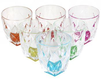 Набор тумблеров для виски Ninphea 6шт, 260ml, цветные